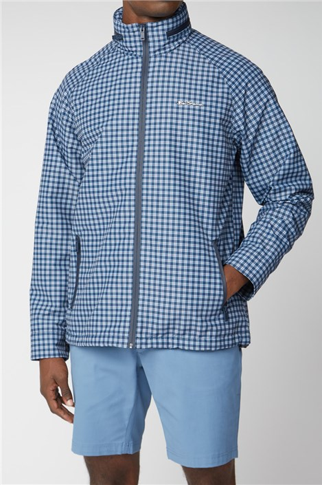 Ben Sherman Navy Check Casual Jacket