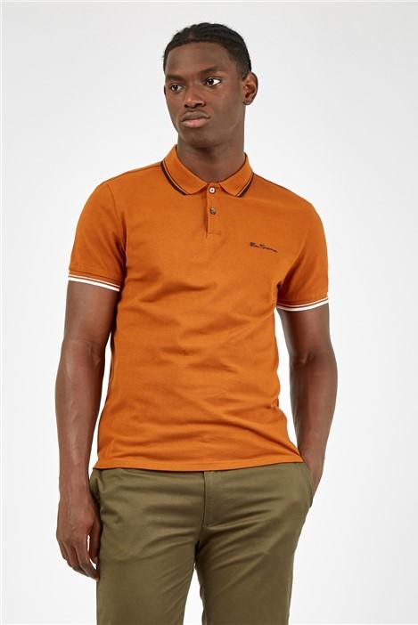 Ben Sherman Burnt Orange Signature Polo Shirt
