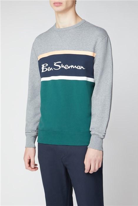 Ben Sherman Colour Blocked Logo Sweat