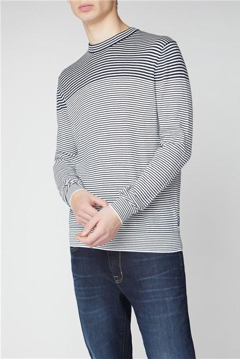 Ben Sherman Breton Stripe Crew Knit