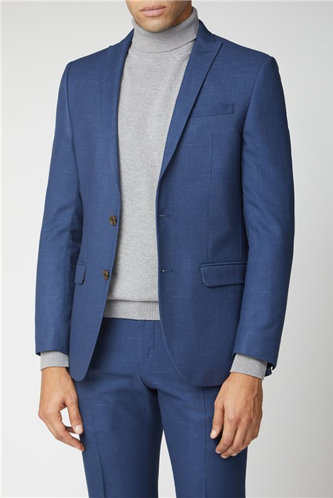 Ben Sherman Bright Blue Fleck Slim Fit Suit