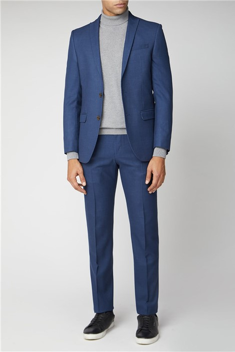 Ben Sherman Bright Blue Fleck Slim Fit Suit
