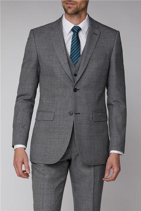 Scott & Taylor Grey Grid Regular Fit Suit