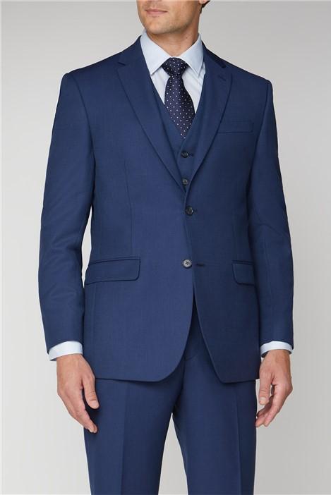 Scott & Taylor Blue Textured Regular Fit Suit