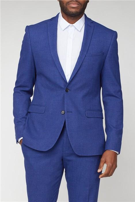 Limehaus Warm Blue Texture Skinny Fit Suit