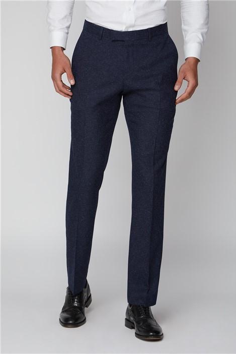 Limehaus Navy Speckle Slim Fit Suit Trouser