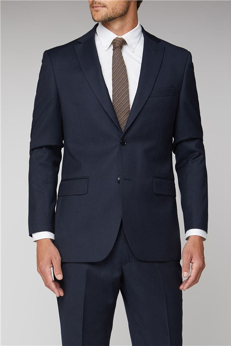 Alexandre of England Navy Flannel Regular Fit Suit