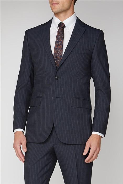 Alexandre of England Navy Stripe Regular Fit Suit
