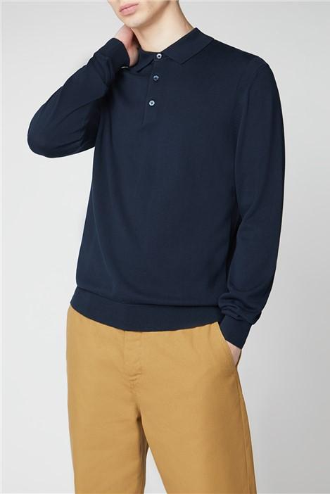 Ben Sherman Signature Cotton Long Sleeve Polo