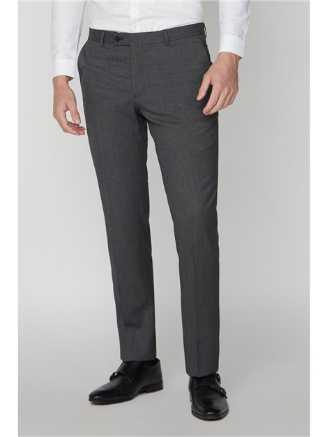 Limehaus Charcoal Micro Check Slim Fit Trouser