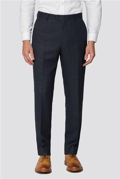 Racing Green Charcoal Semi Plain Regular Fit Suit Trouser