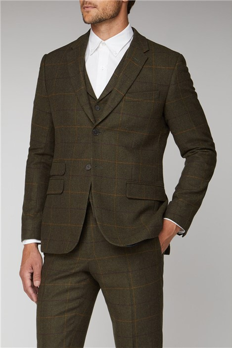 Racing Green Heritage Check Tailored Fit Tweed Suit