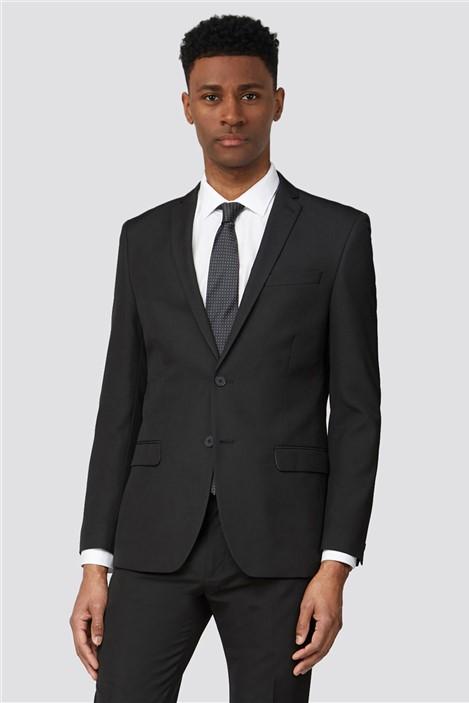 Limehaus Plain Black Slim Fit Suit