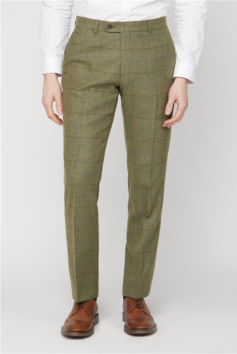 Racing Green Green Heritage Check Trousers