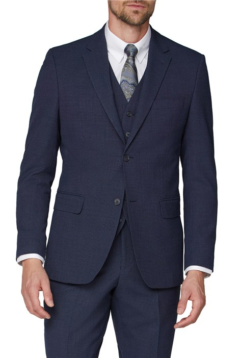Jeff Banks Navy Airforce Regular Fit Travel Suit