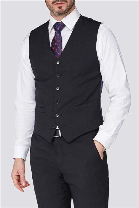 Jeff Banks Stvdio Black Textured Performance Suit Waistcoat