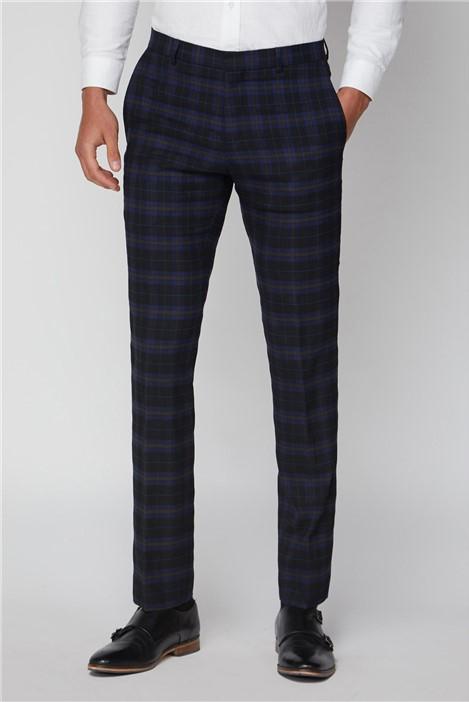 Ben Sherman Blue Mustard Check Slim Fit Suit