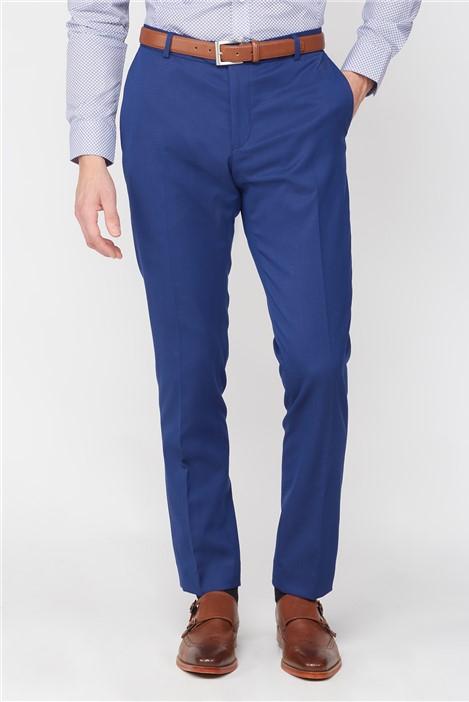 Jeff Banks Stvdio Bright Blue Jaquard Super Slim Brit Trousers