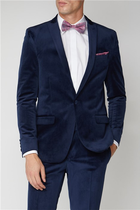 Limehaus Bright Blue Velvet Slim Fit Suit