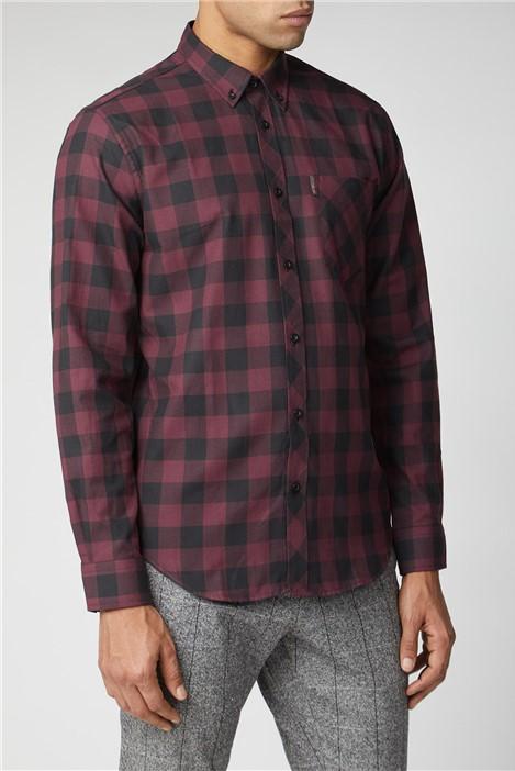 Ben Sherman Long Sleeve Flannel Check Shirt