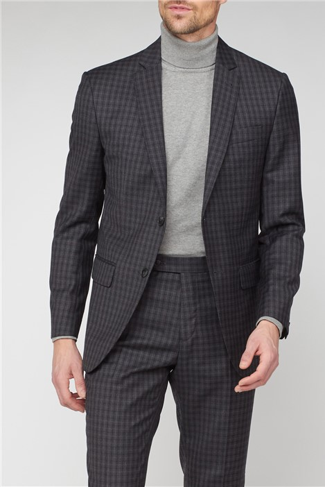 Jeff Banks Charcoal Texture Regular Fit Suit