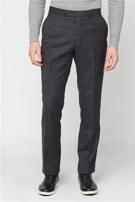 Jeff Banks Charcoal Texture Regular Fit Suit Trousers