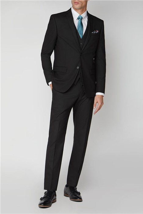 Limehaus Black Stretch Slim Fit Suit