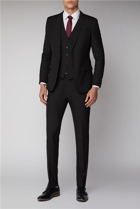 Limehaus Black Stretch Skinny Fit Suit