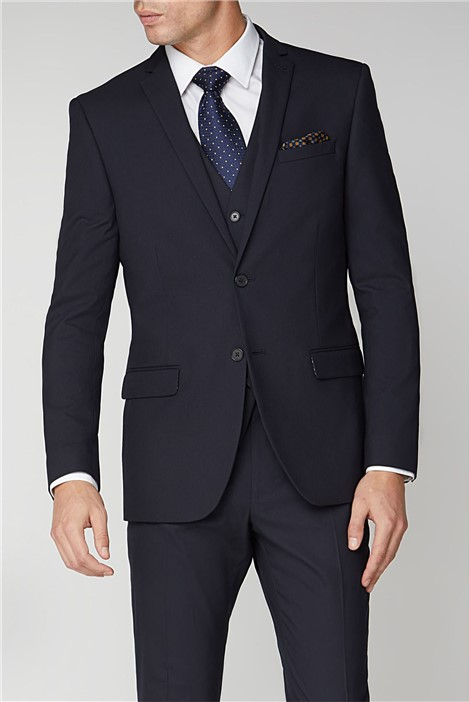 Limehaus Navy Stretch Slim Fit Suit