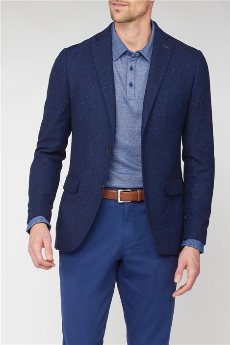 Jeff Banks Stvdio Neps Navy Tweed Blazer