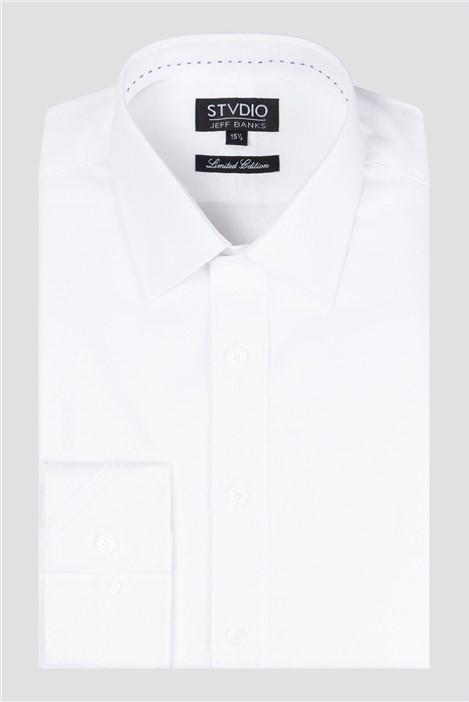 Stvdio by Jeff Banks White Small Jacquard Shirt