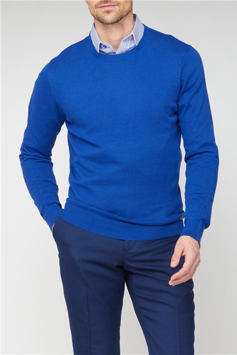 Jeff Banks Blue Crew Neck