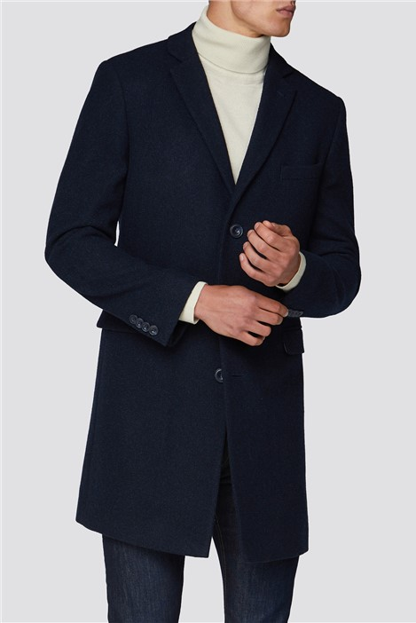 Racing Green Blue Texture Overcoat