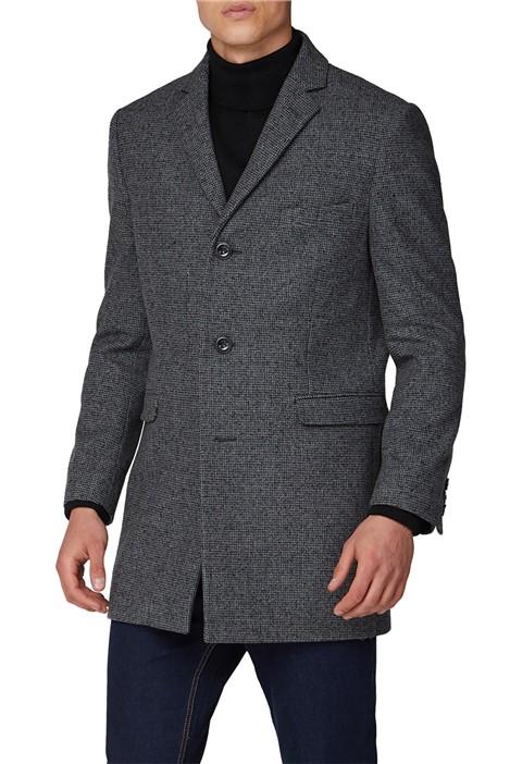 Ben Sherman Grey Structure Overcoat