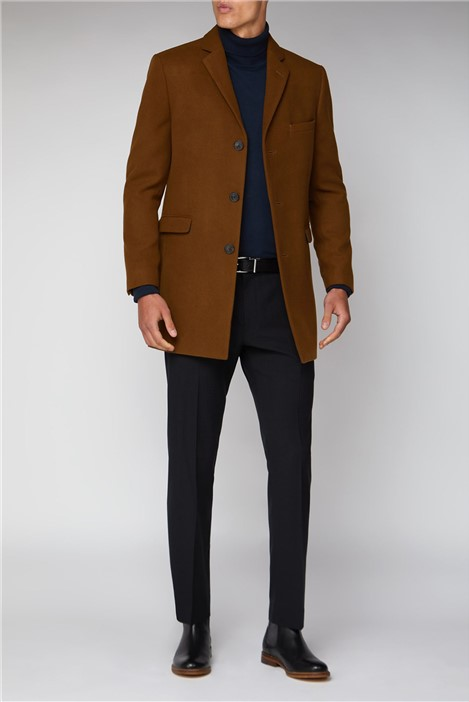 Limehaus Tan Melton Overcoat