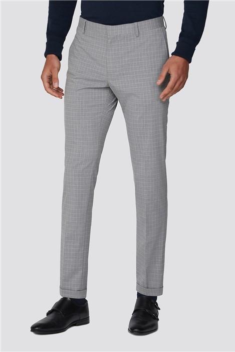 Limehaus Grey Semi Plain Trouser