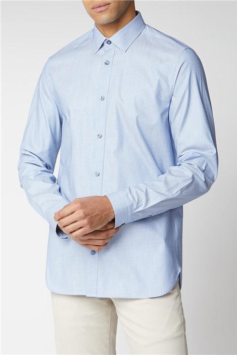 Ben Sherman Blue Dobby Shirt