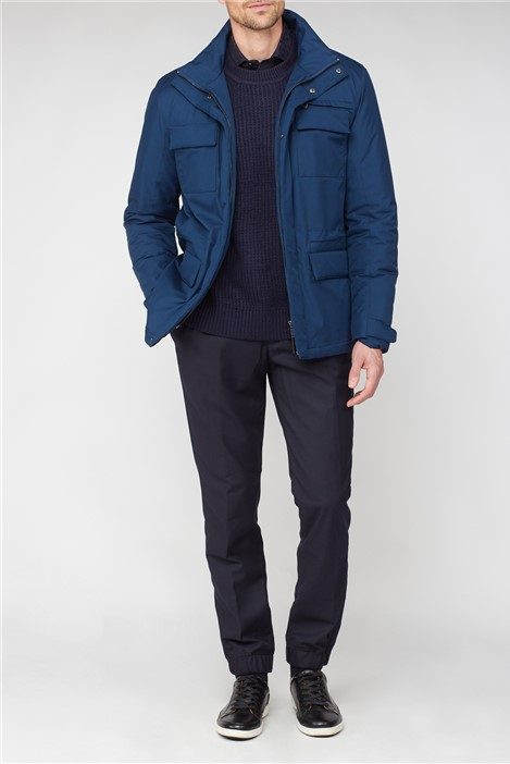 Jeff Banks Blue 4 Pocket Casual Jacket