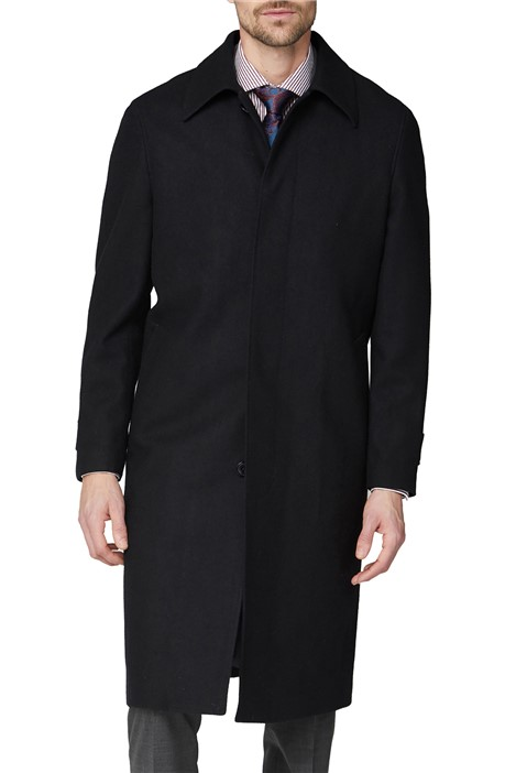 Jeff Banks Black Roma Overcoat