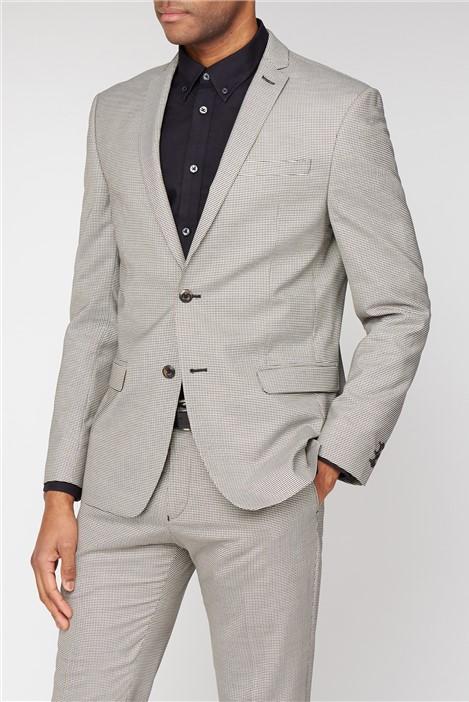 Ben Sherman Mustard Puppytooth Slim Fit Suit