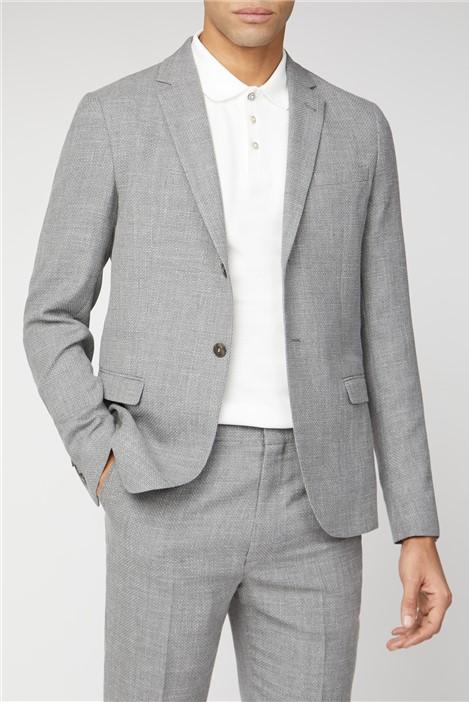 Ben Sherman Cool Grey Broken Structure Camden Fit Suit