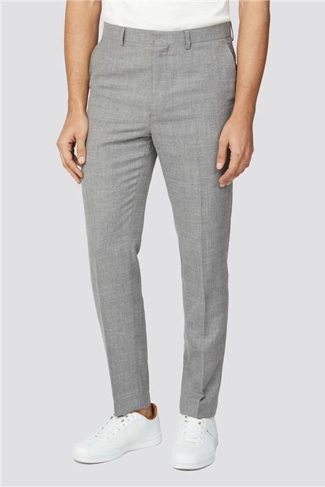 Ben Sherman Cool Grey Broken Structure Camden Fit Trouser