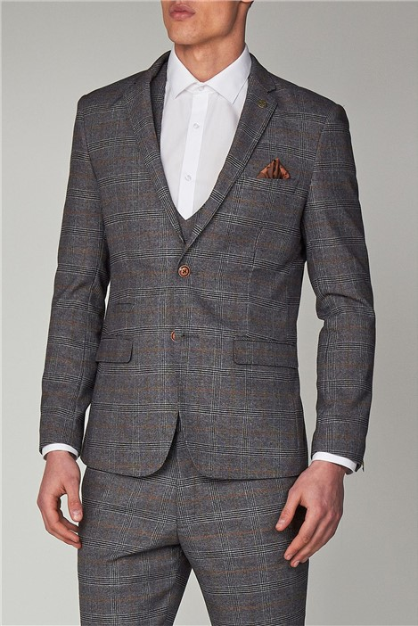 Marc Darcy Jenson Grey Check Suit
