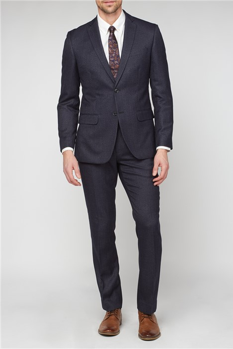 Racing Green Charcoal Semi Plain Tailored Fit Suit