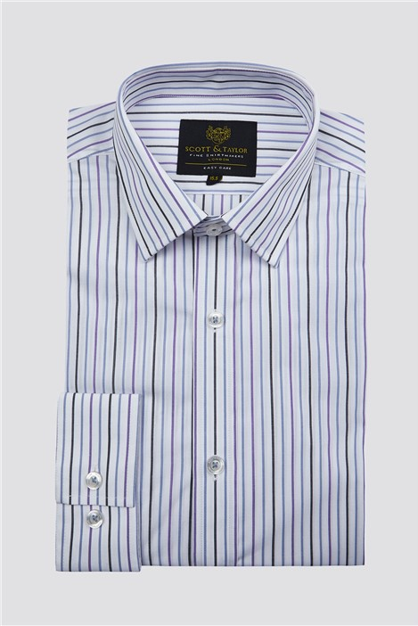 Scott & Taylor White Alternate Stripe Shirt