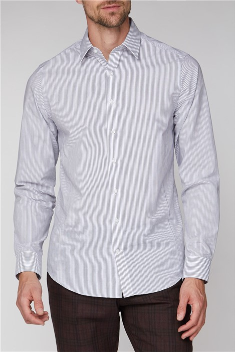 Jeff Banks Brit Grey Stripe Shirt