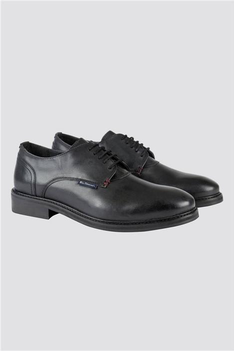 Ben Sherman Black Derby Shoe