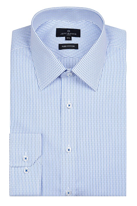 Jeff Banks London Light Blue Linear Stripe Shirt