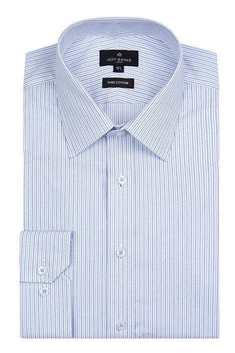 Jeff Banks London Blue Stripe Shirt