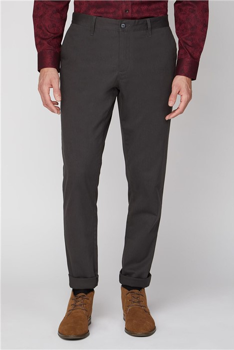Jeff Banks Slate Grey Stretch Chino Trouser